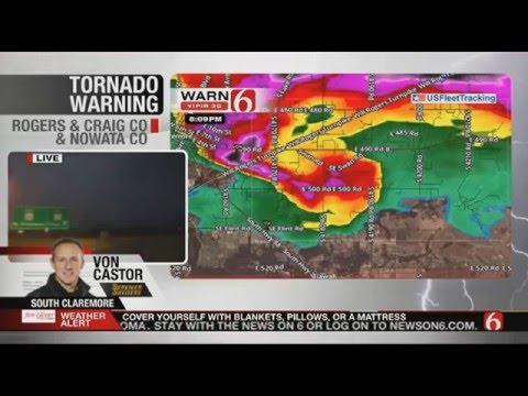 NewsOn6 Tornado Live 3/30/16 Tulsa/Owasso/Caremore Tornado