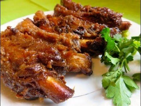 Sticky Honey Garlic Ribs Ribs Recipe