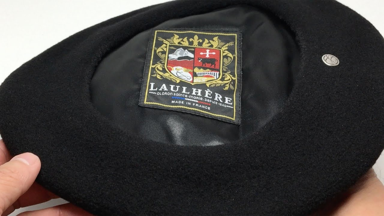 Laulhère Hats Authentique Merino Wool Beret Black   Béret Authentique en  Laine Mérinos noir 4K  ff095628fe70