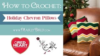 Video Learn How to Crochet the Holiday Chevron Pillows in Red Heart Super Saver Yarn download MP3, 3GP, MP4, WEBM, AVI, FLV Juli 2018