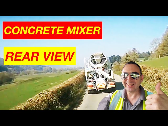 Concrete Mixer Truck Rear View Clip British Trucking