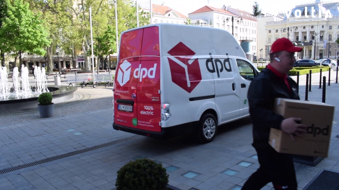 dpd using voltia 8m3 electric van for urban delivery youtube. Black Bedroom Furniture Sets. Home Design Ideas