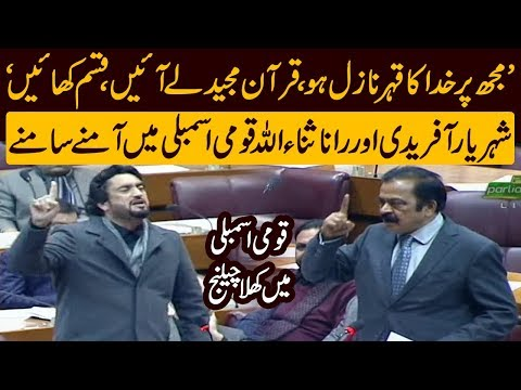 Rana Sana Ullah aggressive reply to Shehryar Afridi | Speech today in  National Assembly