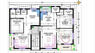35x50 APARTMENT 1bhk and 2 bhk flat plan
