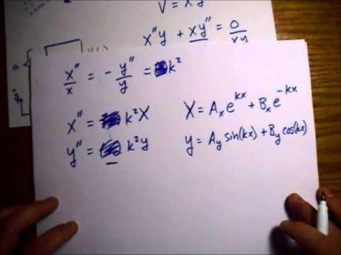 Griffiths Electrodynamics Problem 3.15: Potential Inside Rectangular Pipe, Three Sides Grounded