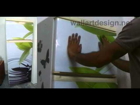 How To Apply A Magnetic Cover To Your Refrigerator And Kitchen Appliances