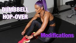 DUMBBELL HOP-OVER MODIFICATIONS| Natalie Eva Marie