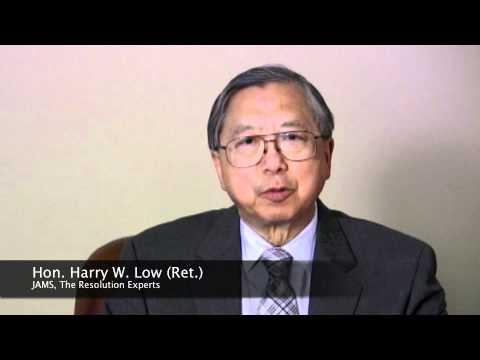 Judge Harry Low congratulates Judge Ed Chen