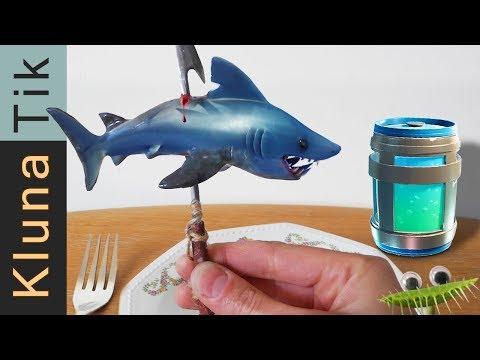 Real life FORTNITE for DINNER! Kluna Tik Dinner   ASMR eating sounds La vida real Echtes Leben