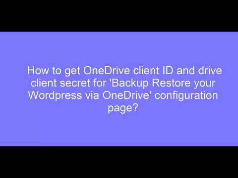 How To Generate and Use API Keys for OneDrive - YouTube