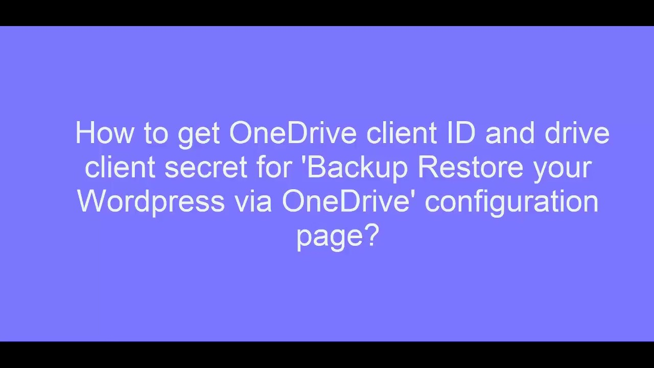 How To Generate and Use API Keys for OneDrive