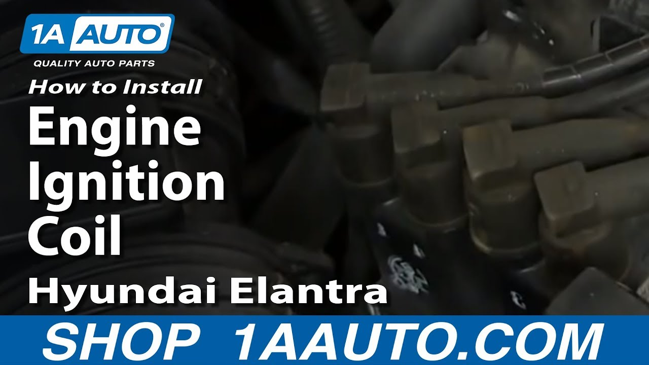 How To Install Replace Engine Ignition Coil 2003 06 Hyundai Elantra Diagram 20l Youtube
