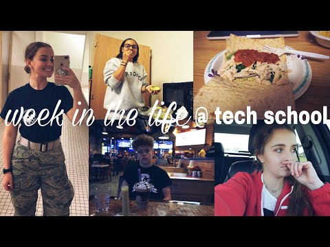 a week in the life @ AIR FORCE TECH SCHOOL // 2018