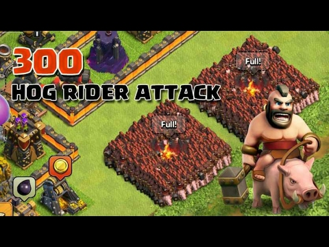 Clash of clans-300 Hogrider attack and 1 P.E.K.K.A(COC movie) - revenge offical super bowl TV