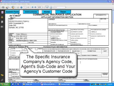 How To Complete The Acord  Commercial Insurance Application