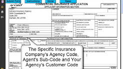 How to Complete the ACORD 125 Commercial Insurance Application Agency Carrier Section