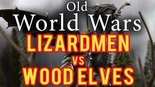 Lizardmen Vs Wood Elves Warhammer Fantasy Battle Report - Old World Wars Ep 63