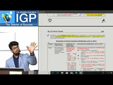 Amendments for CA IPCC law May 2018   Clarifications on RTP
