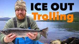 Western Maine Spring Trolling - L.L. SALMON CATCH 'N COOK!