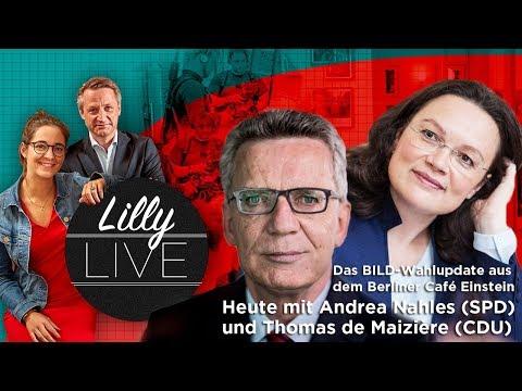 Frühstück mit Andrea Nahles (SPD) & Thomas de Maizière (CDU) / Lilly Live Folge 3