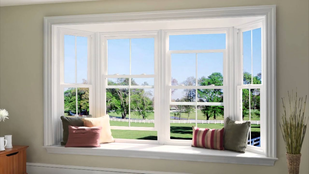 Jeld wen v 2500 vinyl windows pro overview youtube for Double hung french patio doors