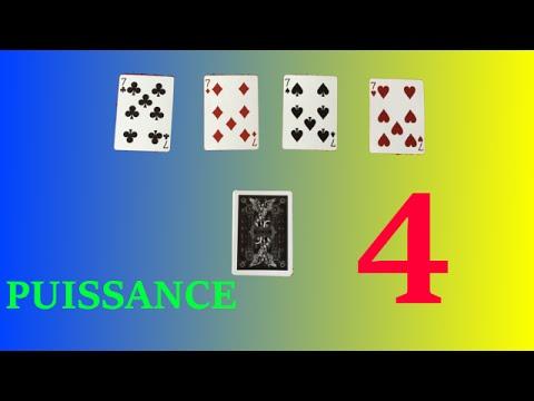 tour de magie avec 4 cartes
