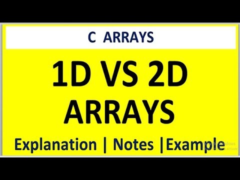 DIFFERENCE BETWEEN 1D ARRAY AND AND 2D ARRAY IN C PROGRAMMING