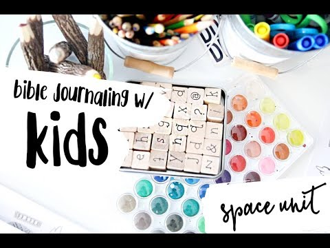 bible journaling w/ kids: our space unit | our homeschool journey...
