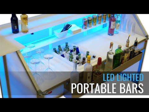 LED Lighted Portable Bar -  Custom Mobile Event Bars