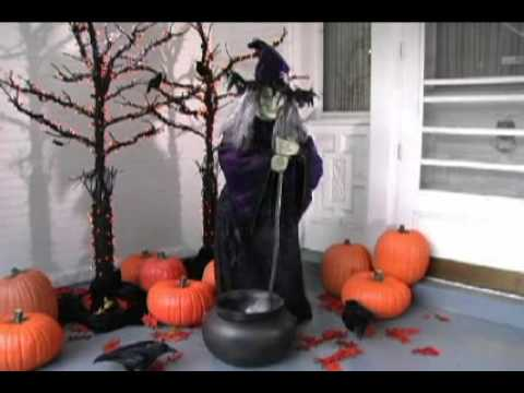 grandin road life sized animated halloween witch youtube