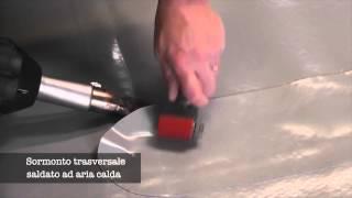 Realizzazione di sormonto trasversale con saldatore ad aria calda