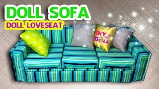 HOW TO MAKE LUXURY DOLL SOFA/ Doll Crafts | DIY FOR DOLL