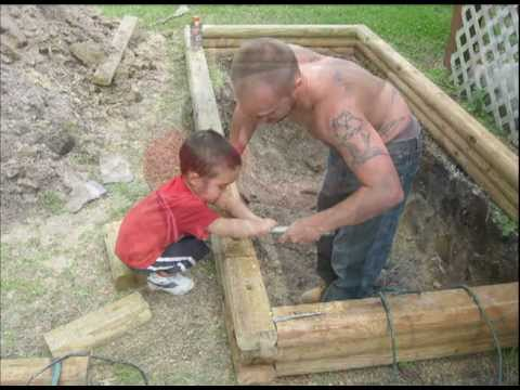 My koi pond construction youtube for How to build a small koi pond