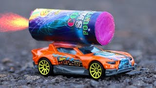 EKSPERIMEN HOT WHEELS + KEMBANG API!!