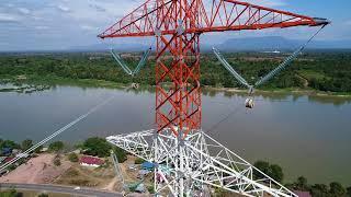 500kV Transmission Line, Stringing Work, Hyosung Corporation, Korea