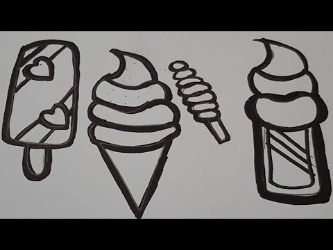 rainbow ice creams popsicle coloring and drawing learn colors for