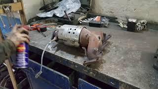 замена катализатора на пламегаситель и прошивка на евро 2