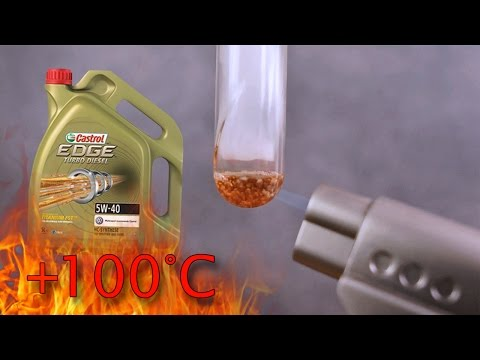 Castrol EDGE Turbo Diesel FST Titanium 5W40 Jak czysty jest olej silnikowy? Test powyżej 100°C