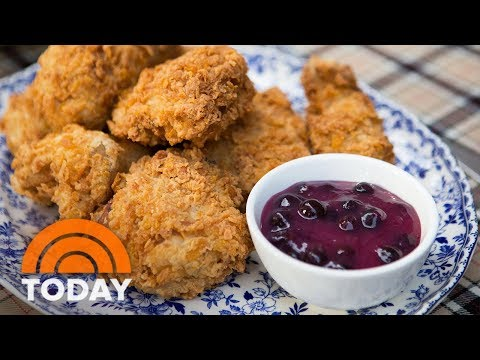 Make Cornflake Fried Chicken With Blueberry Sauce For A Gourmet Picnic   TODAY