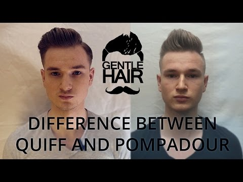 Difference between modern quiff and modern pompadour  GentleHair  YouTube