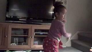 Akiyah Dancing to Kids Bop