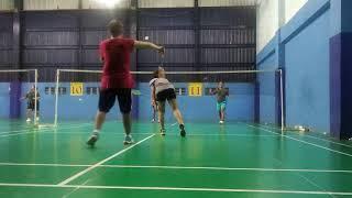 Game 1 Badminton 😊with Kamila