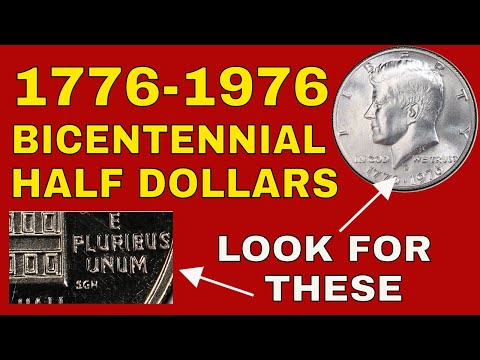 1976 Bicentennial Half Dollars Worth Money!  Rare 1976 Kennedy Half Dollars Error Coins Value!