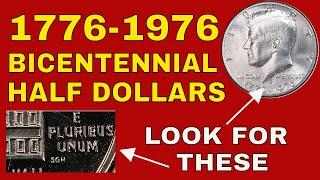 5 Coin Lot Bicentennial Kennedy Half Dollars 1776-1976
