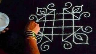 Basic rangoli for learning - 6  (without dots )