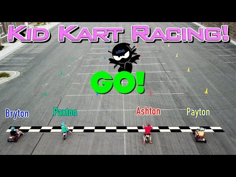 Kid Kart Racing challenge in REAL LIFE! Ninja Kidz TV
