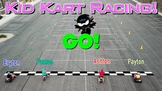 Kid Kart Racing challenge in REAL LIFE Ninja Kidz TV