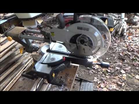 Cutting Firewood With A Miter Saw O18