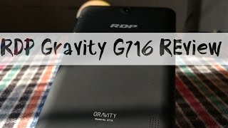 RDP gravity G716  Tablet Review with Gaming