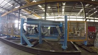 Conveyor Module with Diversion Plough Factory Acceptance Test (video 2)